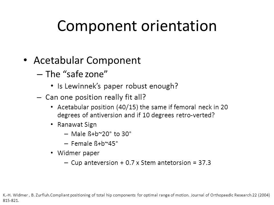 Component orientation