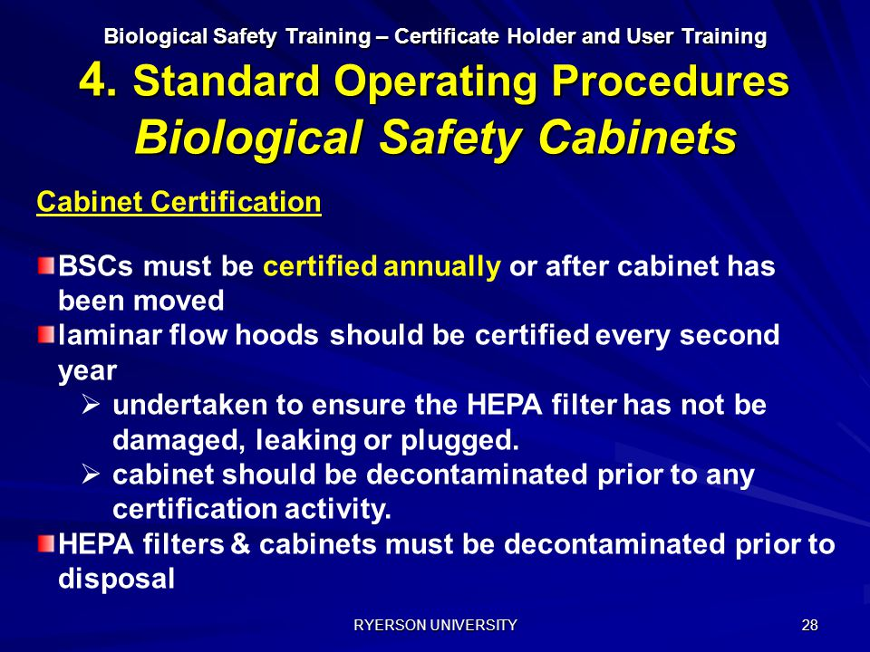 Cabinet Certification