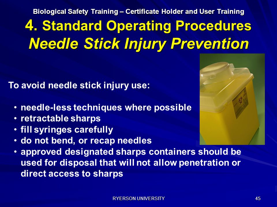 To avoid needle stick injury use: