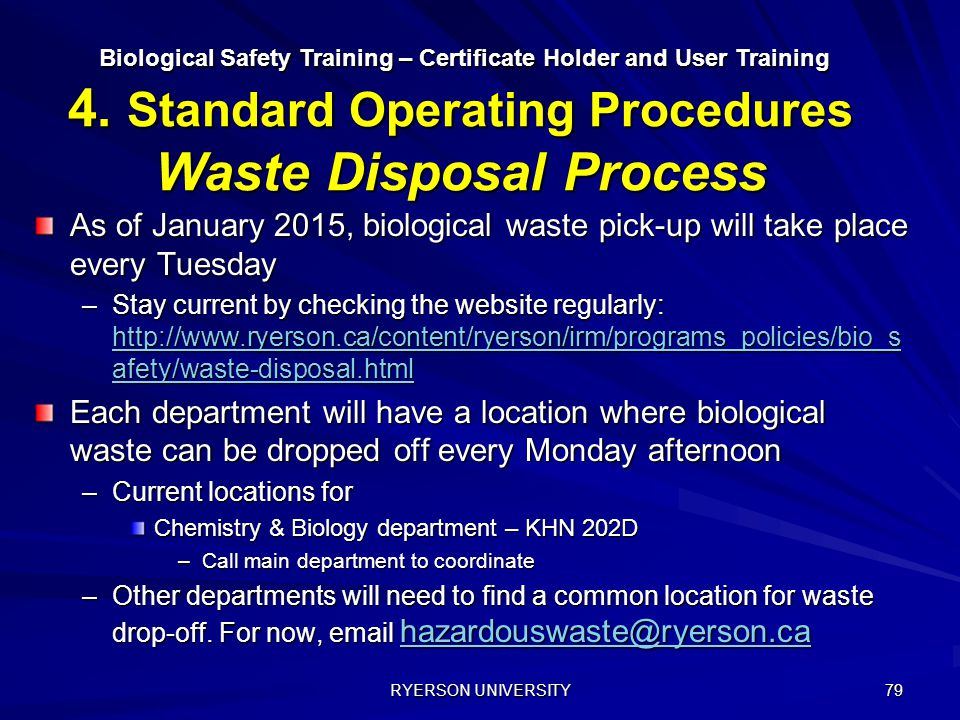 Biological Safety Training – Certificate Holder and User Training 4