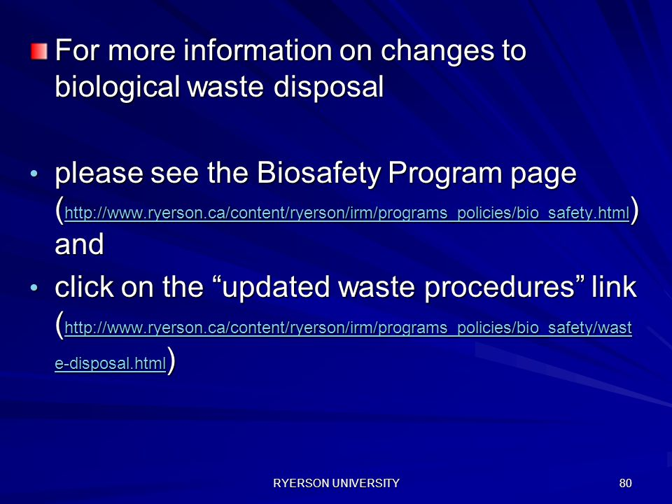 For more information on changes to biological waste disposal
