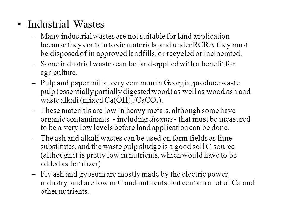 Industrial Wastes