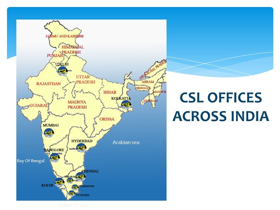 CSL OFFICES ACROSS INDIA