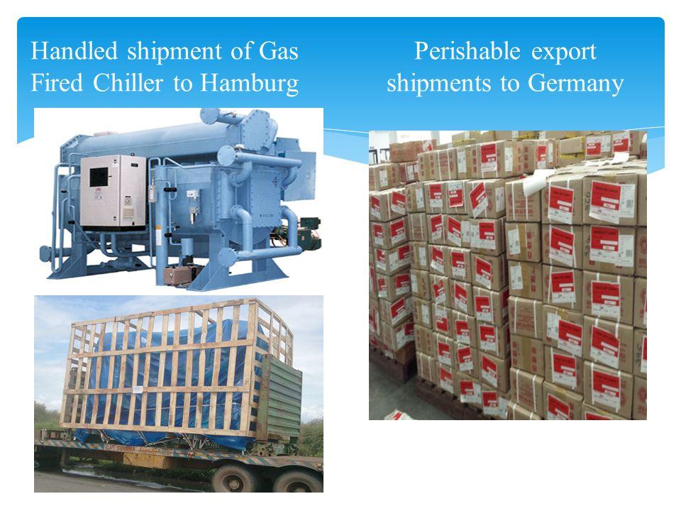 Handled shipment of Gas Fired Chiller to Hamburg