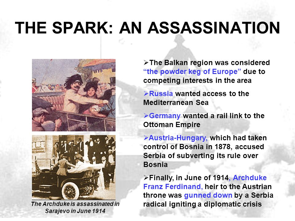 THE SPARK: AN ASSASSINATION
