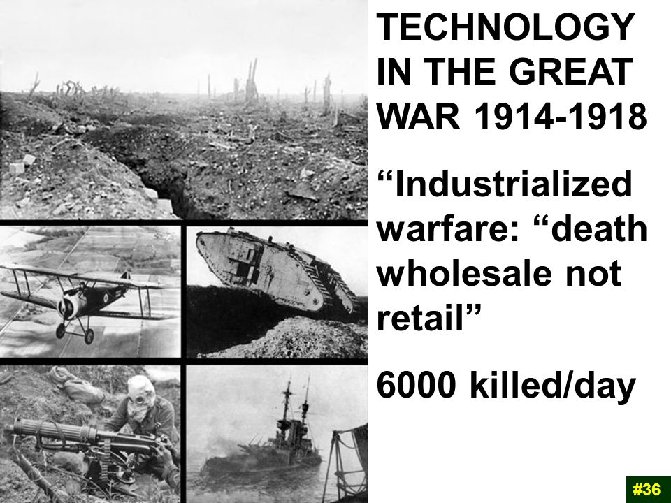 TECHNOLOGY IN THE GREAT WAR 1914-1918