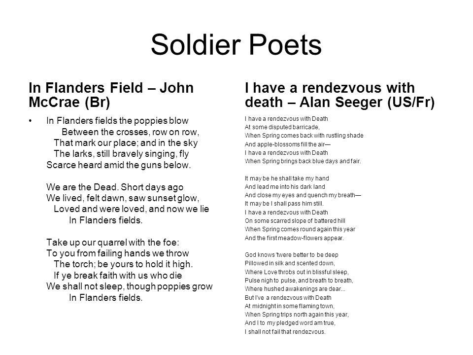 Soldier Poets In Flanders Field – John McCrae (Br)
