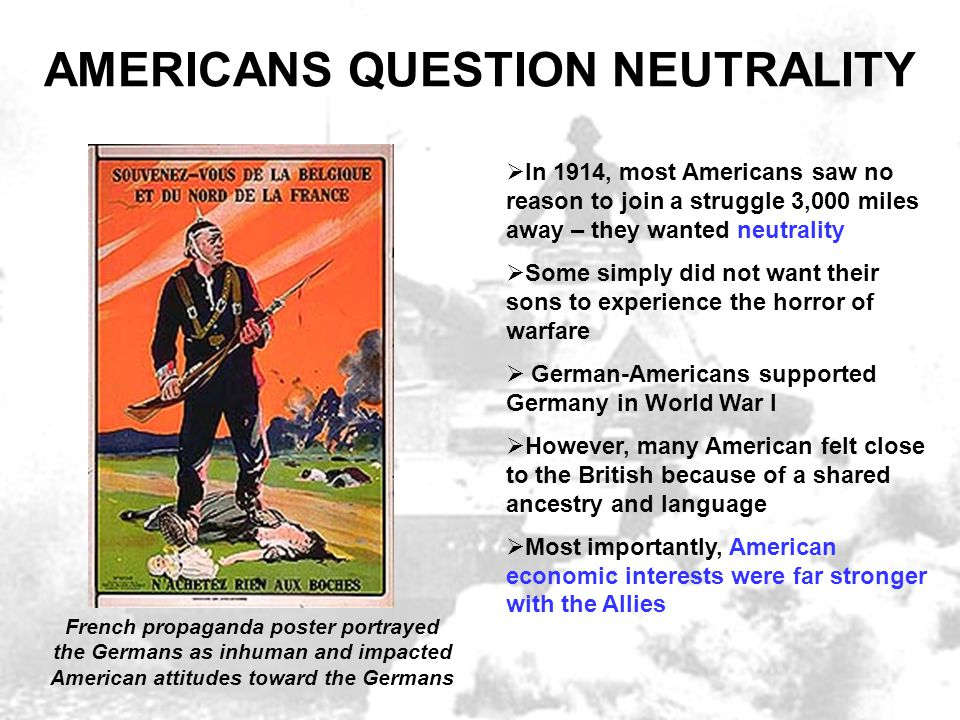 AMERICANS QUESTION NEUTRALITY
