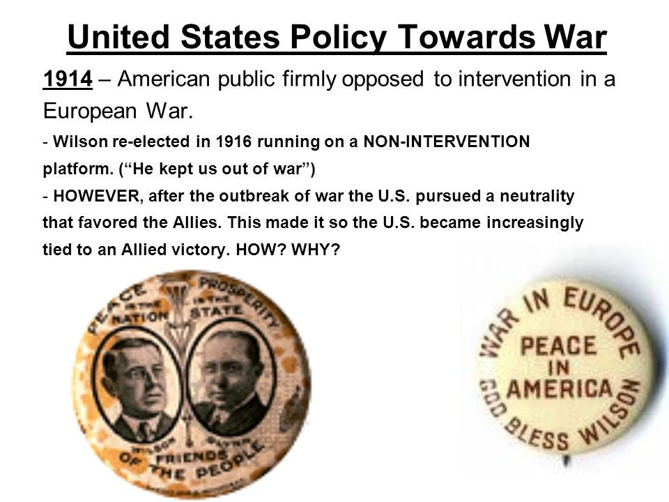United States Policy Towards War