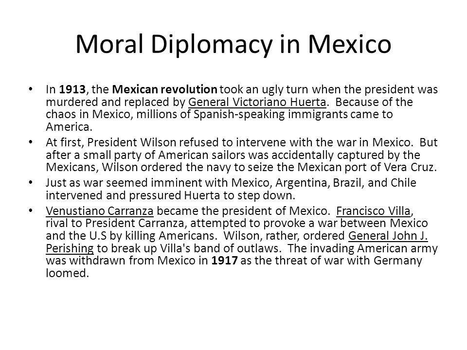 Moral Diplomacy in Mexico