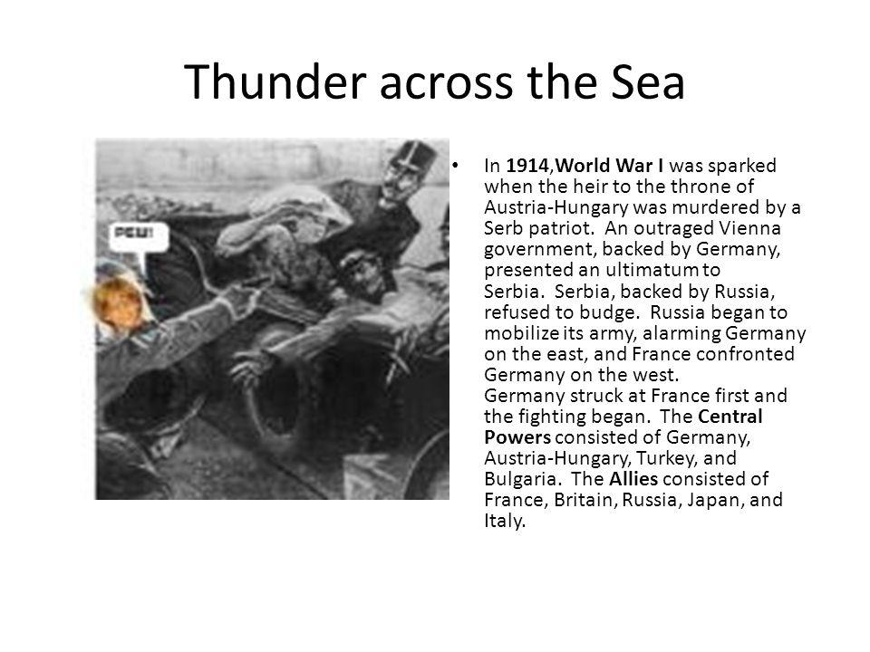 Thunder across the Sea
