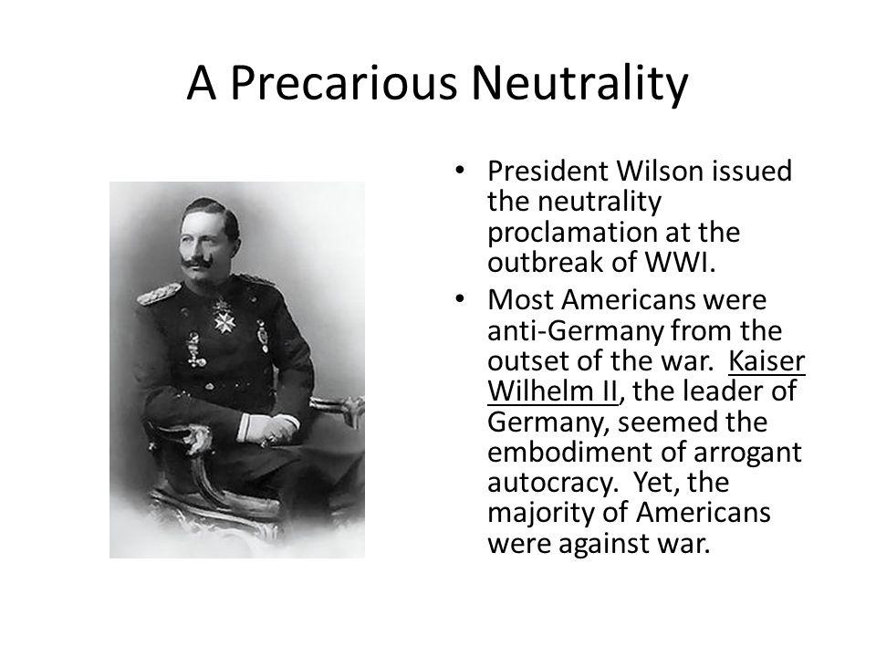 A Precarious Neutrality