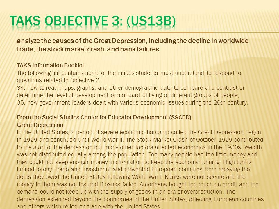 TAKS Objective 3: (US13B)
