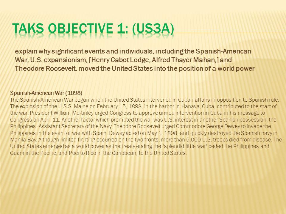 TAKS Objective 1: (US3A)