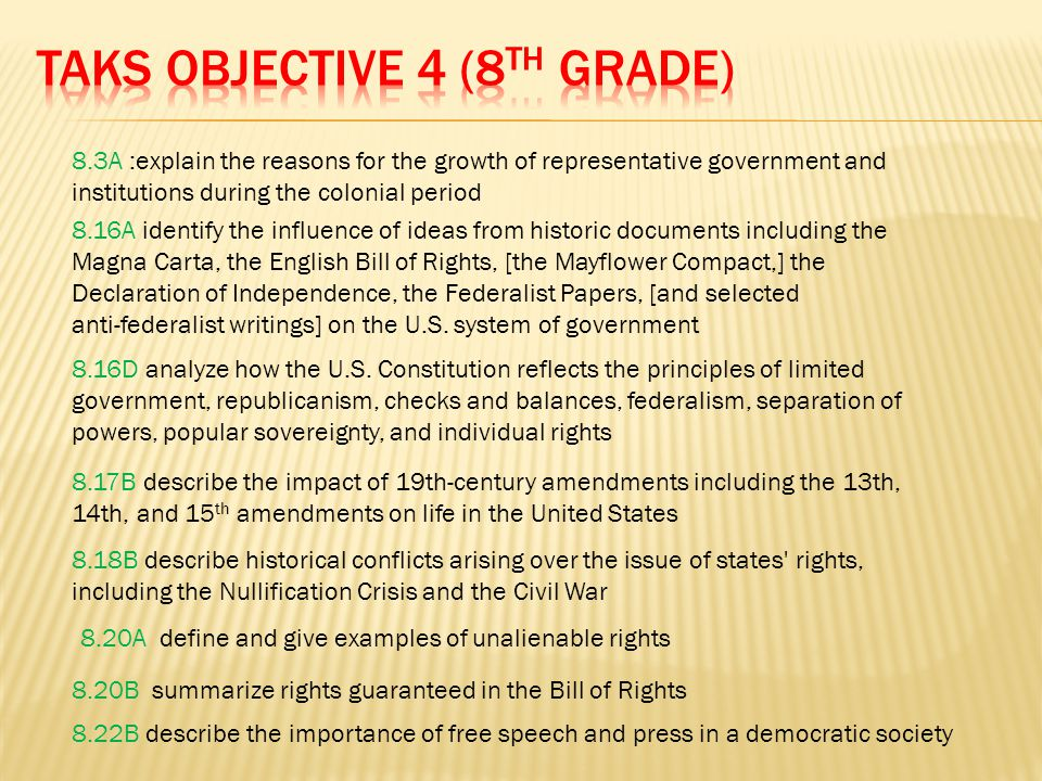 TAKS Objective 4 (8th Grade)