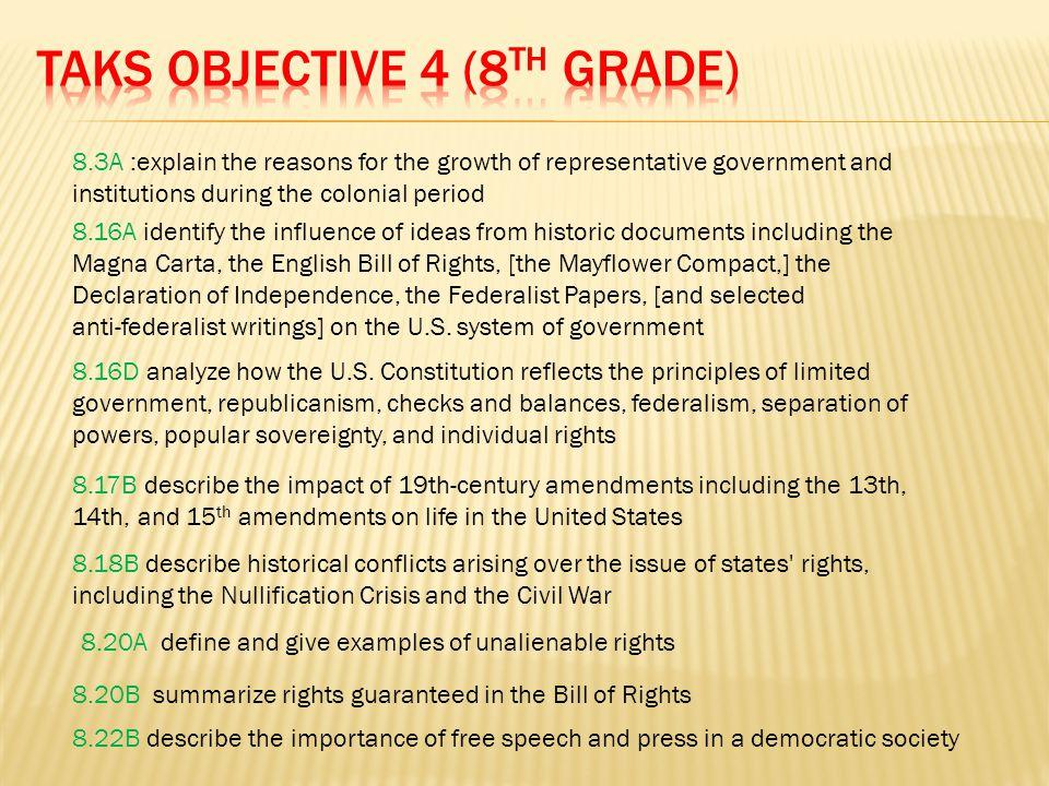 TAKS Objective 4 (8th Grade)