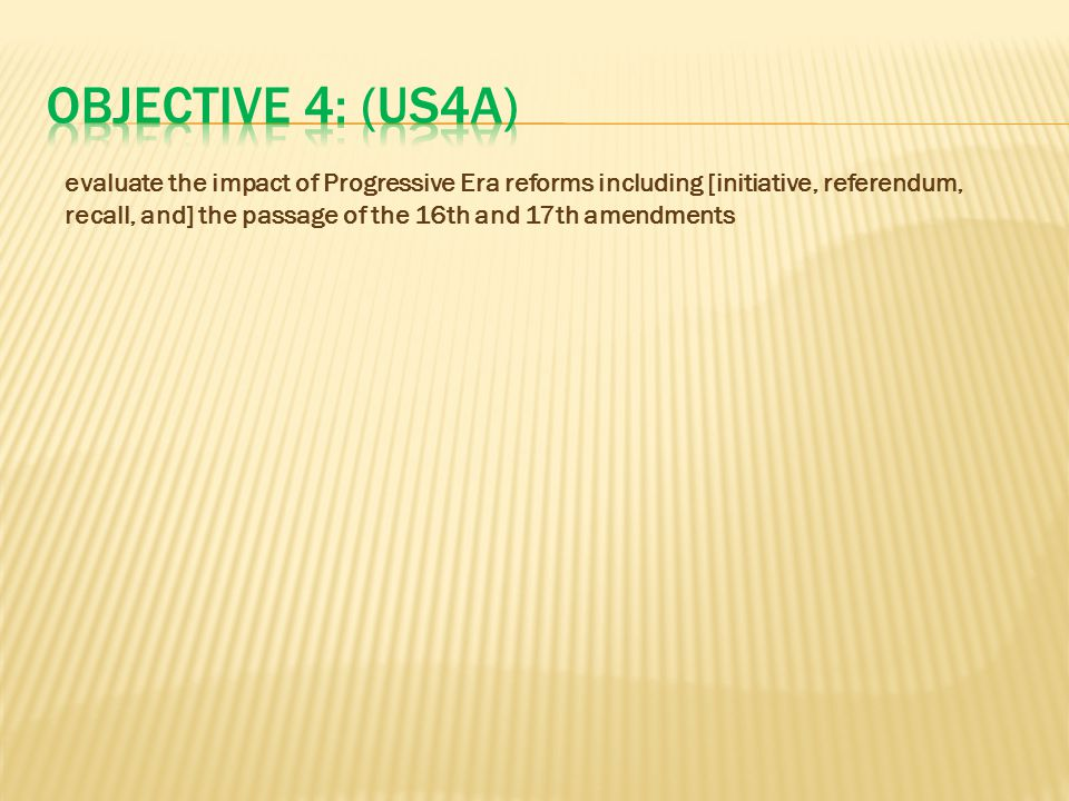 Objective 4: (US4A)