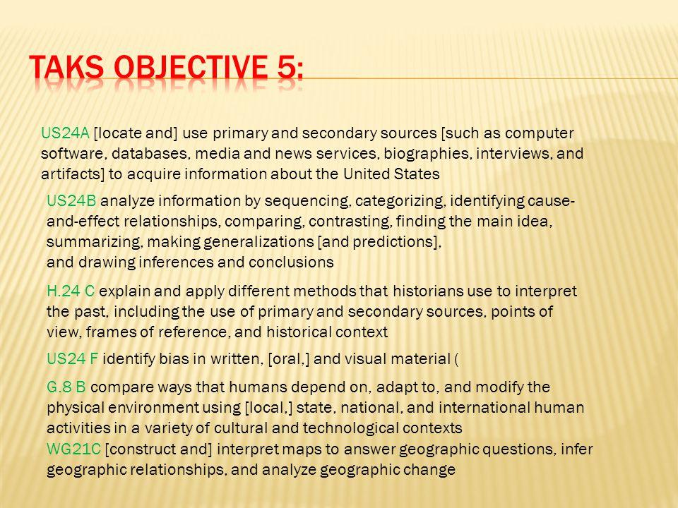 TAKS Objective 5: