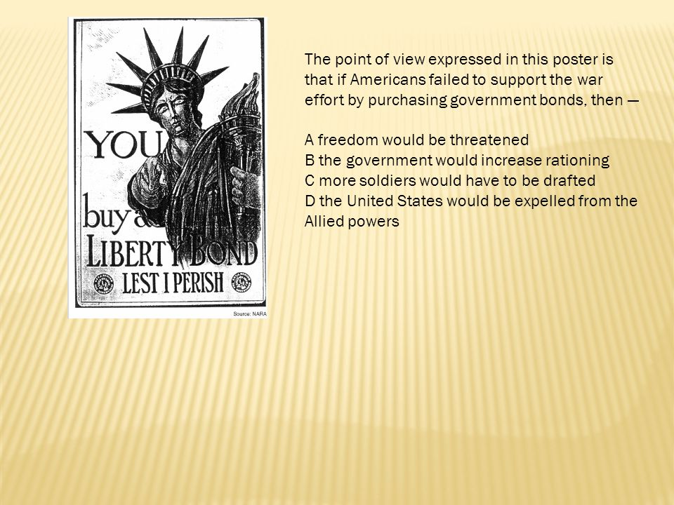 The point of view expressed in this poster is that if Americans failed to support the war effort by purchasing government bonds, then —