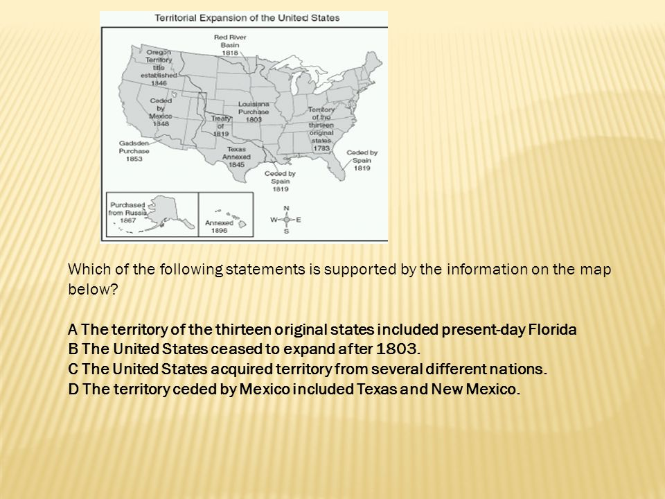 Which of the following statements is supported by the information on the map below