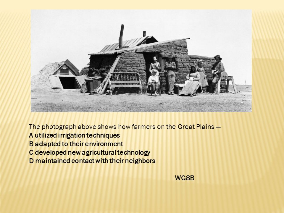 The photograph above shows how farmers on the Great Plains —