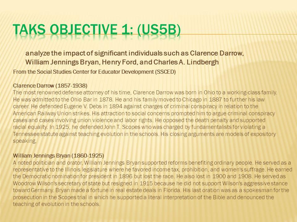 TAKS Objective 1: (US5B)