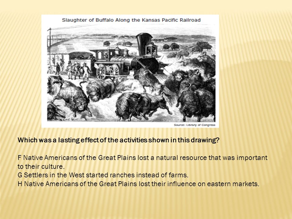 Which was a lasting effect of the activities shown in this drawing