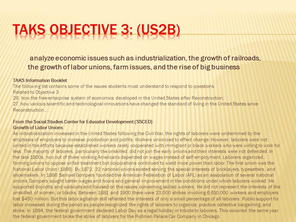 TAKS Objective 3: (US2B)