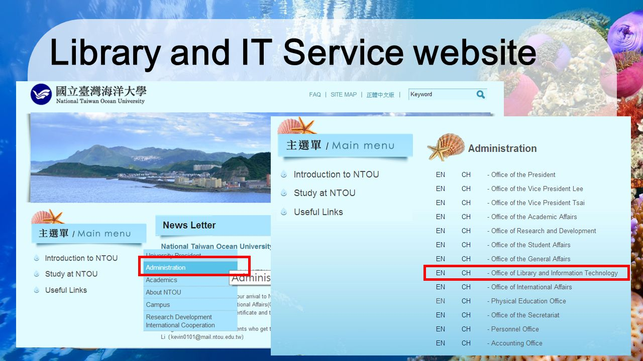 Library and IT Service website