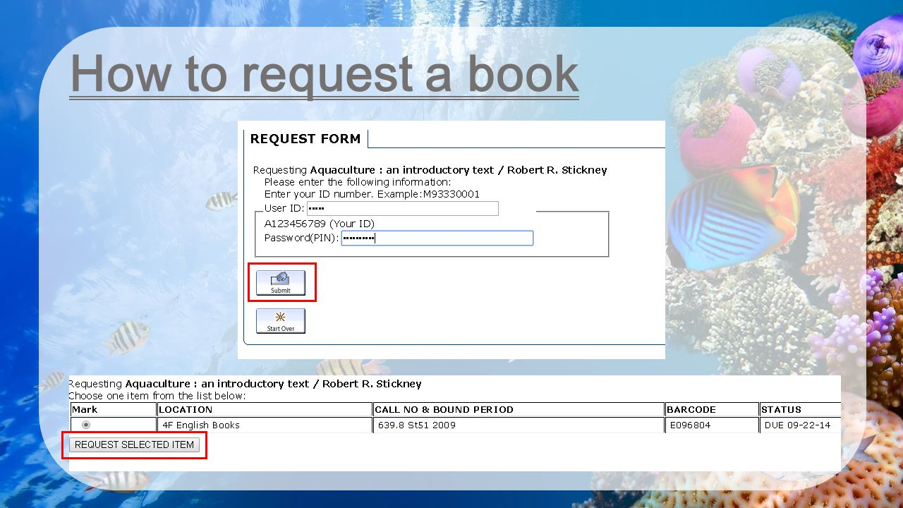 How to request a book