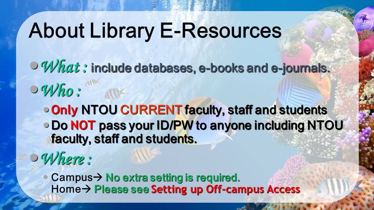 About Library E-Resources