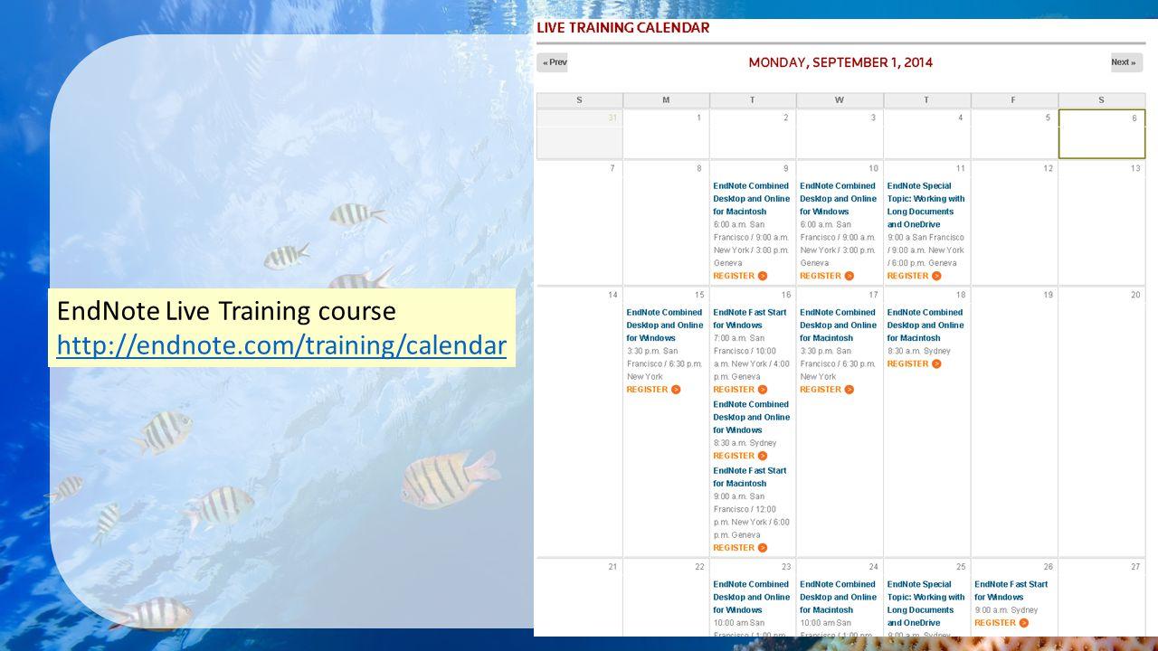 EndNote Live Training course