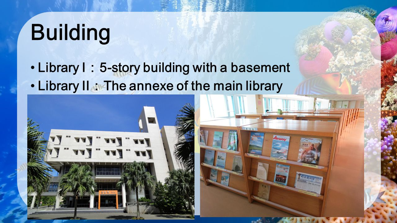 Building Library I:5-story building with a basement