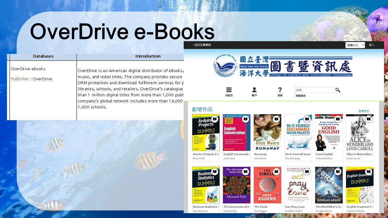 OverDrive e-Books