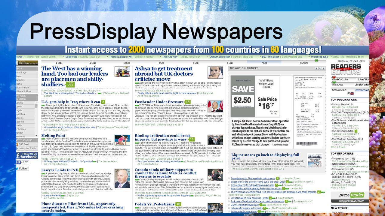 PressDisplay Newspapers