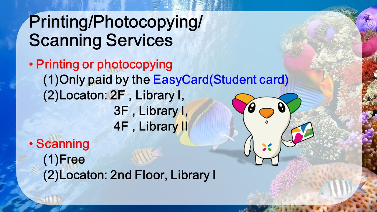 Printing/Photocopying/ Scanning Services