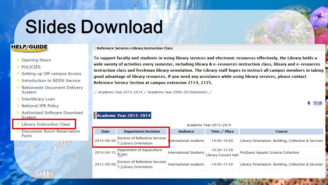 Slides Download