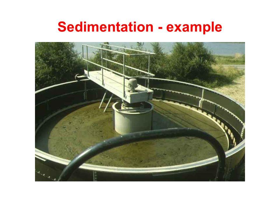 Sedimentation - example