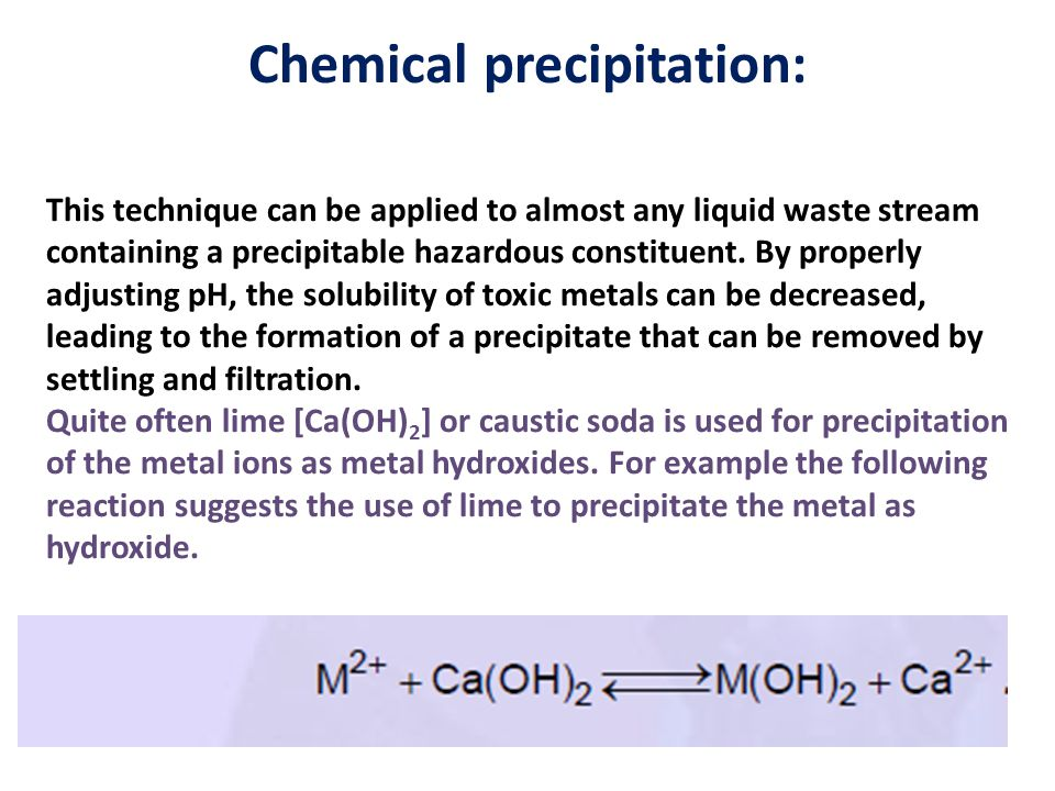 Chemical precipitation: