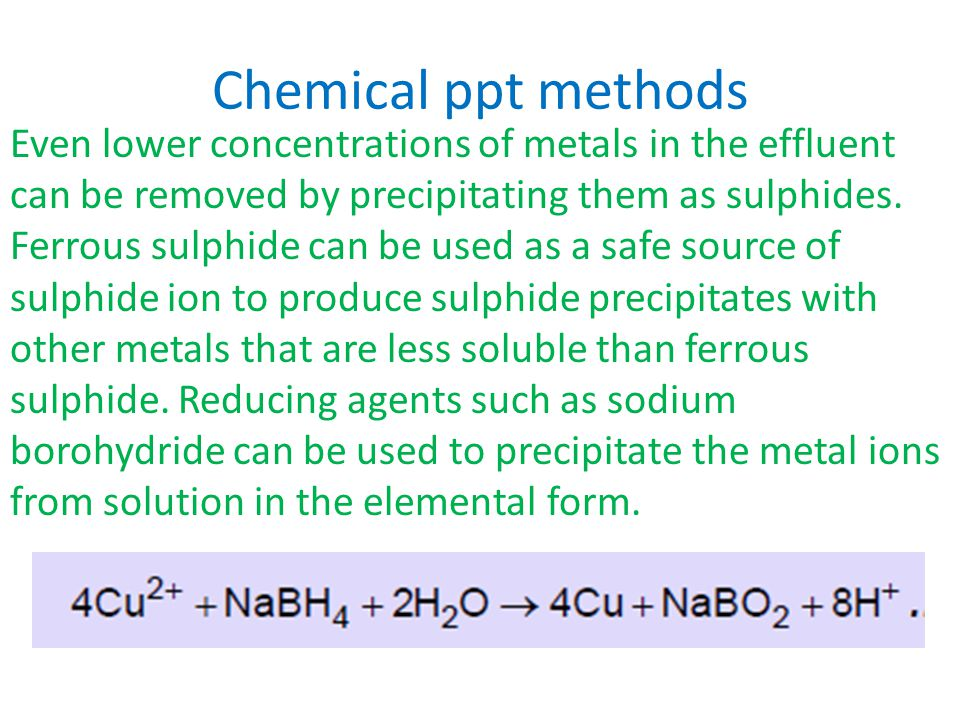 Chemical ppt methods