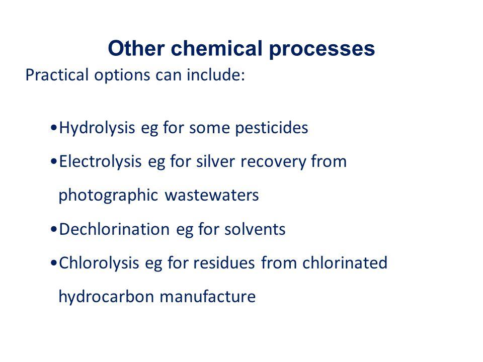 Other chemical processes