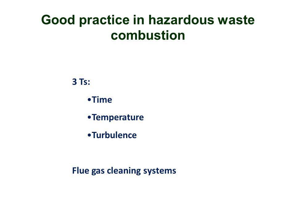 Good practice in hazardous waste combustion