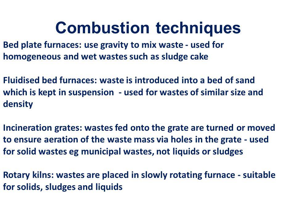 Combustion techniques