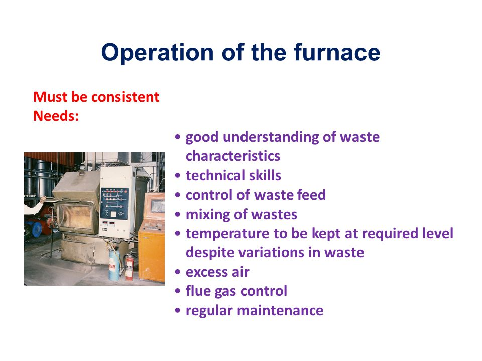 Operation of the furnace