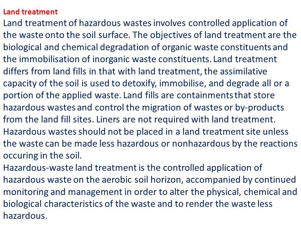 Land treatment