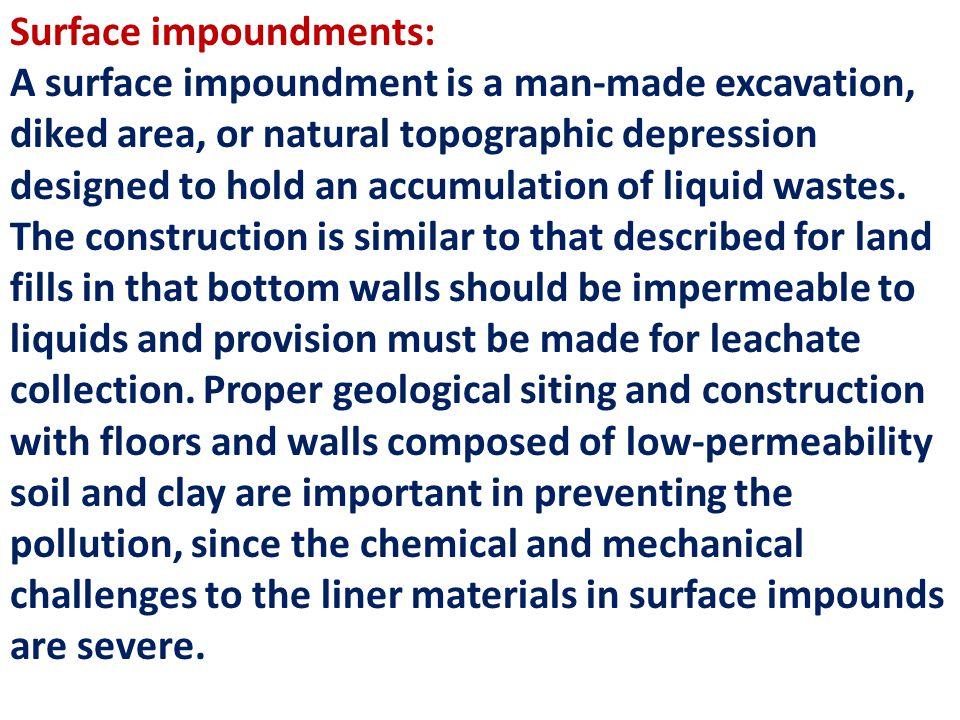 Surface impoundments: