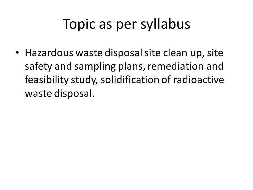 Topic as per syllabus