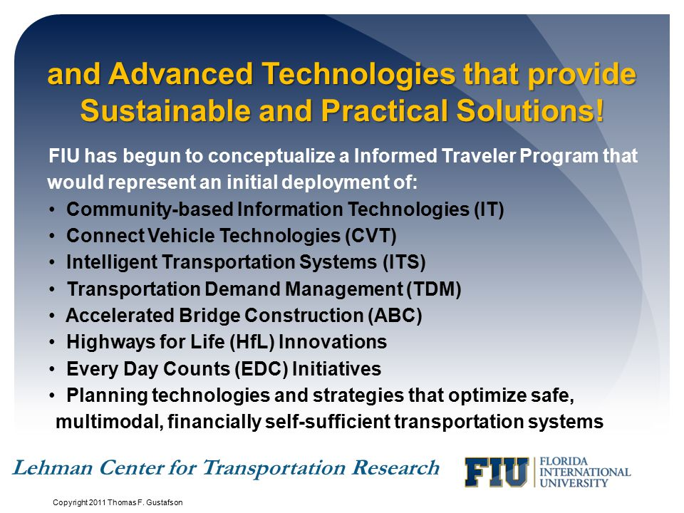 and Advanced Technologies that provide Sustainable and Practical Solutions!