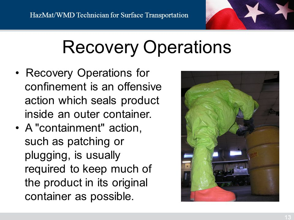 Recovery Operations Recovery Operations for