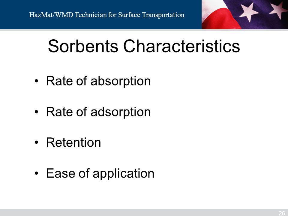 Sorbents Characteristics